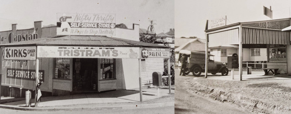 The original convenience store in 1930 which is now the Hillsdon Road Centre in Taringa