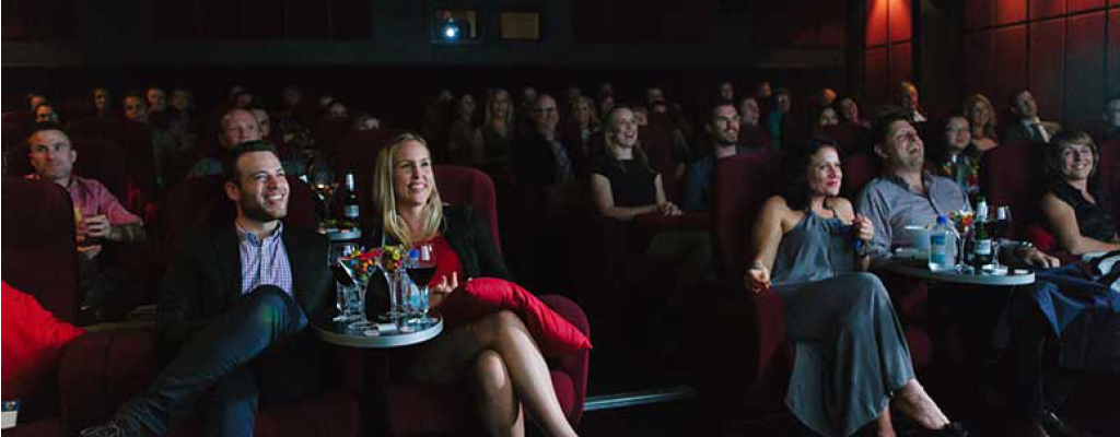 Food and drinks served at the Blue Room Cinema, Rosalie