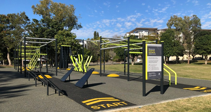 Guyatt Park unveils new Ninja Warrior course