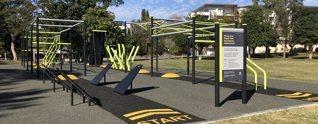 St Lucia Community Guide - Ninja Warrior course at Guyatt Park in St Lucia