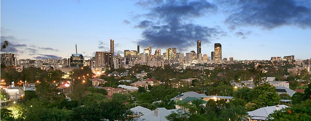 Taringa community guide - Brisbane city views from Swann Road in Taringa