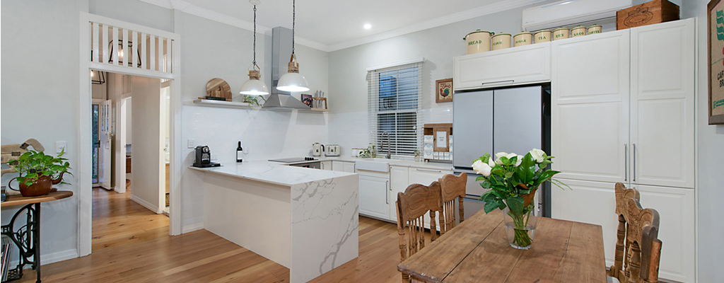 Country style kitchen in a Toowong cottage