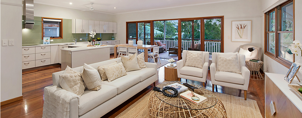 Queenslanders are typical in Toowong real esate with large lounges opening to the veranda