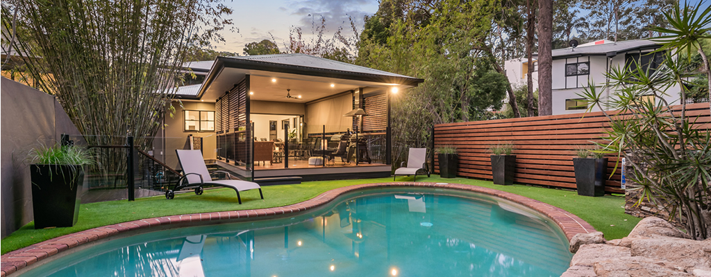 Property hunters search for a pool and outdoor area in Queensland.