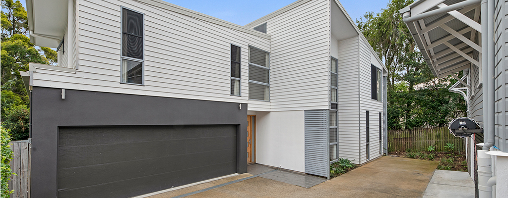 Subdivided block in Auchenflower with contemporary house built as an investment property