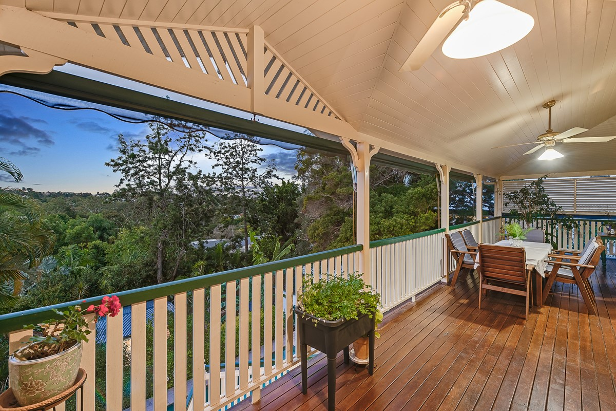 Grand home on the ridge of Birdwood Terrace, Toowong with deck looking out to views